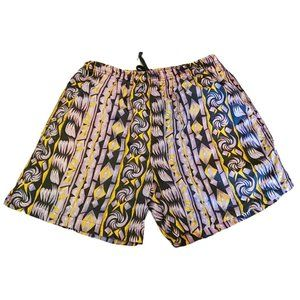 Vintage 90's funky print swim trunks